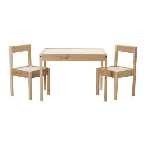 IKEA-Kindersitzgruppe-LTT-Kindertisch-mit-2-Sthlen-aus-Kieferholz