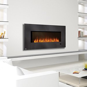 Linear Wall Mounted Electric Fireplace Size: 48