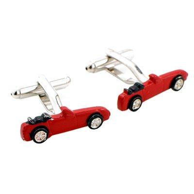 Red Sports Car Cufflinks Cuff links