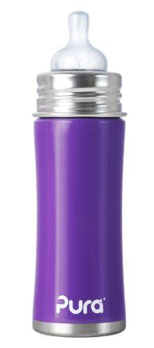 Pura Kiki Infant Bottle Stainless Steel, Grape, 11 Ounce