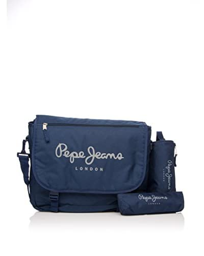 Pepe Jeans Set Borsa A Tracolla + 2 Astucci Blu Navy