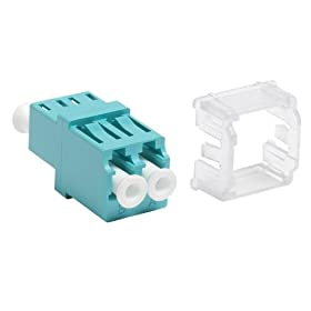 MFA-LC02-AQ - Systimax LazrSPEED® LC Duplex Adapter, Aqua, Single Pack
