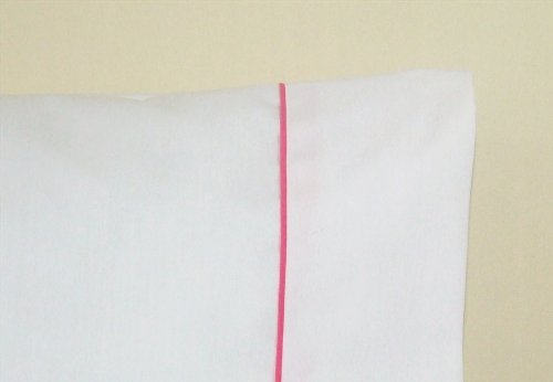 30x75 Camper/ RV Bunk Sheet set White w/ PINK trim from AB Lifestyles'