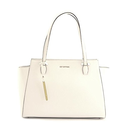 BORSA MODELLO TOTE SHOPPING IN VERA PELLE BIANCA BAG