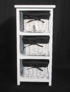 Lastest Storage Tower Metal Frame Amp Wicker Baskets  Bathroom Storage Unit