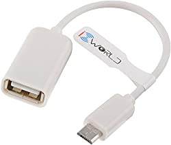 iConnect world - OTG cable for all otg compatible mobilephone - white