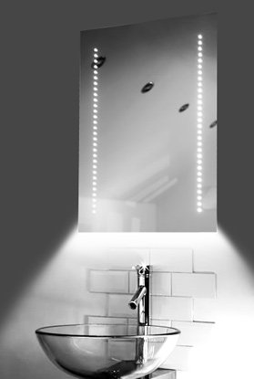 Ambient Ultra-Slim Led Bathroom Mirror With Demister Pad & Sensor K10W