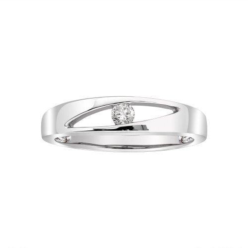 Sterling Silver White Diamond Fashion Ring (0.08 cttw, H-I Color, I1-I2 Clarity), Size 6