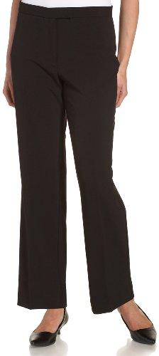 Sag Harbor Women's Petite Slimming Panel Pant, Black, 16