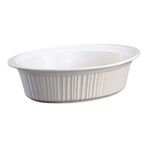 Corningware French White 4-Liter Oval Roaster No Lid