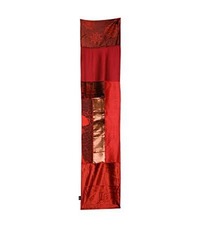 Aviva Stanoff Hand-Pressed Signature Velvet Table Runner, Scarlet
