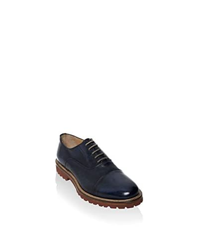 British Passport Zapatos Oxford Toe Cap Azul