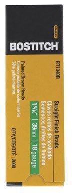 BOSTITCH BT1340B 1-9/16-Inch 18-Gauge Brad Nails, 2000-Per Box