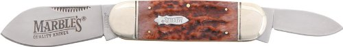 Marble Knives 113 Sunfish Pocket Knife With Stag Bone Handles