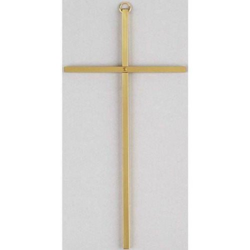 Plain Gold Metal Wall Cross