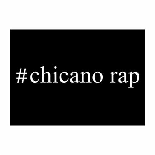 Teeburon #Chicano Rap Hashtag Sticker Pacchetto di 4
