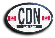 Canada - Oval decal