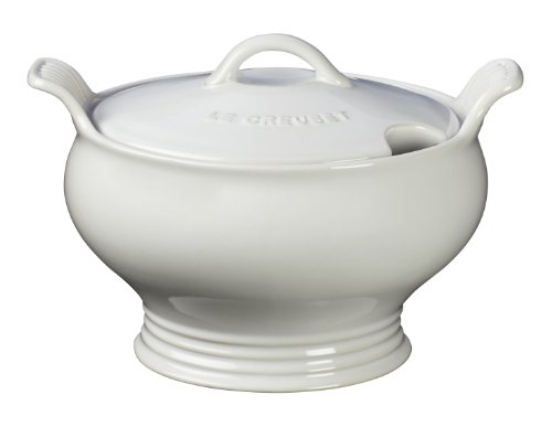 Le Creuset Stoneware 3-Quart Soup Toureen, White