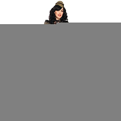 [GSG Pin Up Girl Costumes Sexy Adult 40s Military Girl Halloween Fancy Dress] (40s Nurse Costume)