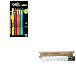 KITRIC841284SAN28175PP - Value Kit - Ricoh 841284A Toner (RIC841284) and Sharpie Retractable Highlighters (SAN28175PP)