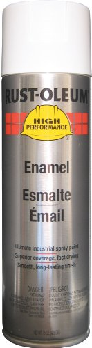 Rust-Oleum V2192838 V2100 System Enamel Spray Paint, 15-Ounce, Gloss White