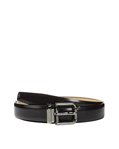 Dolce & Gabbana Cintura Pelle  Marrone Scuro 105 cm
