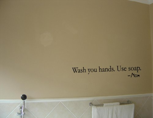 quotes on your hand. cheap WASH YOUR HANDS.