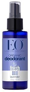 EO Organic Deodorant Spray, Lavender, 4 Fluid Ounce