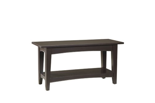 Alaterre ASCA03CL Shaker Cottage Bench with Shelf, Chocolate