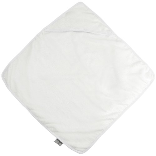 Babies hooded towel COLOUR White/White ONE SIZE