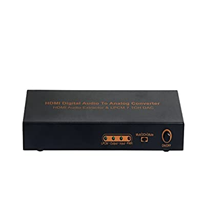 ASK HDMI Digital audio to analog converter 7.1decoder amplifier support 3 modes for audio output and Blu-ray player machines