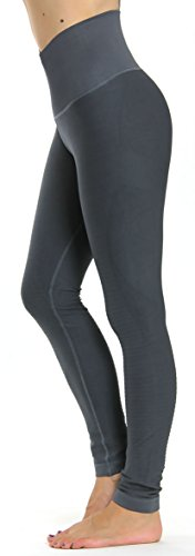 Prolific Health High Compression Women Pants Yoga Fitness Leggings (Medium/Large, Charcoal)