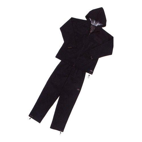 シェイプスーツ ジオバイザー 長袖フードタイプ 男性用 ブラック×ブラック 3Lサイズ ◆身長175〜185cm