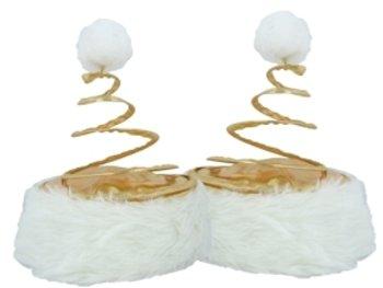 Christmas Holiday Springy Gold Santa Coil Hat