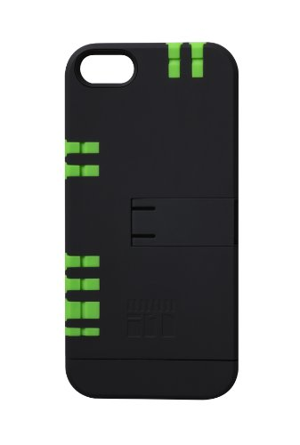 In1 Multi Tool Utility Case For Iphone 5/5S - Retail Packaging - (Black With Green Tools)