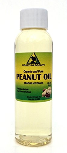 Peanut Oil Refined Organic Carrier Cold Pressed 100% Pure 2 oz