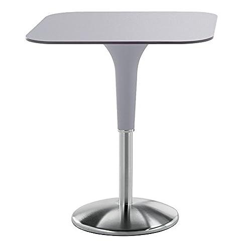 REXITE - ZANZIPLANO Tavolo quadrato, colore grigio perla