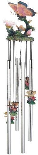 Wind Chime Round Top Butterfly