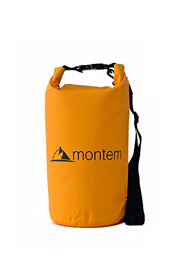 Premium Waterproof Bag / Roll Top Dry Bag - Perfect for Kayaking / Boating / Canoeing / Fishing / Rafting / Swimming / Camping / Snowboarding Crafted by Montem (Orange, 20L) (Ice Fishing Gear Bag compare prices)