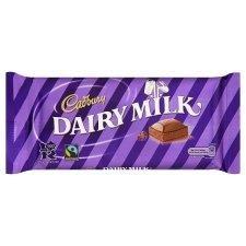 Cadbury Fair Trade Dairy Milk Chocolate Bar 120g - Pack of 6