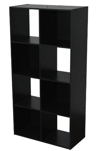 Alsapan - 471371 - Compo - Etagère de 8 Casiers - Noir - 61,5 x 29,5 x 121 cm