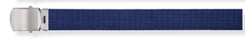 Navy Canvas Belt w/ Silver Buckle