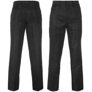 Pierre Cardin Plain Formal Trousers Mens Black 34W R