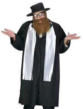 FunWorld Men's Adult Rabbi Costume