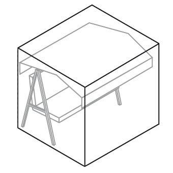 Videx-Gartenmöbel-Schutzhülle für Hollywoodschaukel, lilie, L:160, B:145, H:150cm günstig kaufen