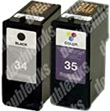 Combo Pack Lexmark 34/35 Remanufactured (1 BLK+1 CLR)