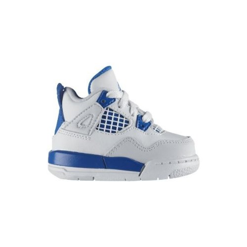 Nike Air Jordan 4 Retro Toddler Size 3.5 (White / Military Blue / Neutral Grey) 308500-105 front-1077266