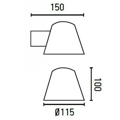 Faro 71367 - GINA Lampe applique noir
