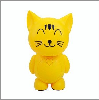 New Arrival Novelty Cartoon Cat Led Study Working Reading Lamp Desk Lamp Energy Saving Night Light Bedroom Lighting Tool Bedside Table Lamp Super Bright Reading Lights Lamp Lantern Personalized Charging Led Lighting Home Decoration Ornaments(Yellow)