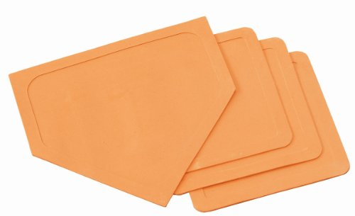 Champion Sports Indoor/Outdoor Orange Baseball Base Set